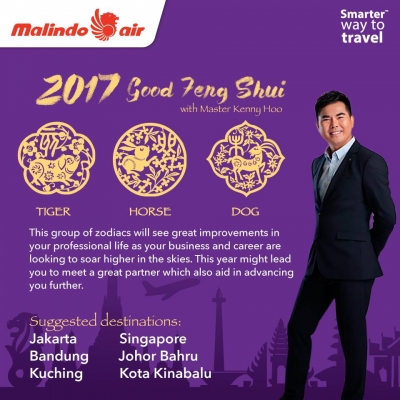 2017 Malindo Air Good Feng Shui tips by Master Kenny Hoo, www.GoodFengShui.com