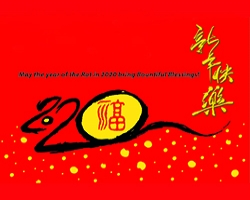 新年快乐 ( May the year of the Rat in 2020 bring Bountiful Blessings! )