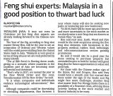 Feng shui experts: Malaysia in a good position to thwart bad luck